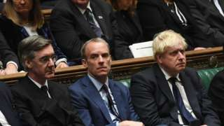 Government front bench in the Commons