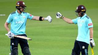 Surrey players Laurie Evans and Jamie Smith