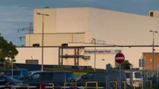 The Ford plant at Bridgend
