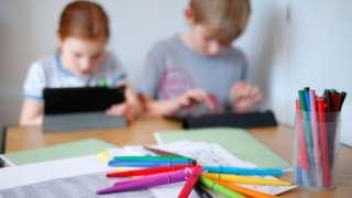 children on ipads, homeschooling