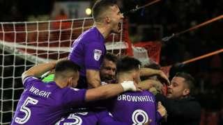 Bristol City celebrate goal