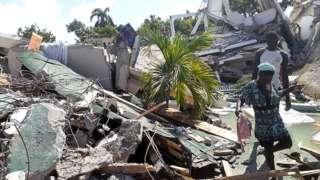 Ahangijwe n'umutingito muri Les Cayes, muri Haïti, ku itariki ya 14/8/2021
