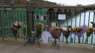 Floral tributes to Steve Holton