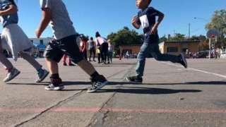Kids run at Haight