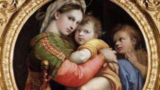 拉斐尔创作的圣母玛利亚和圣婴