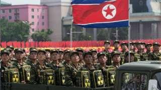 2019년 북한의 열병식(자료사진)