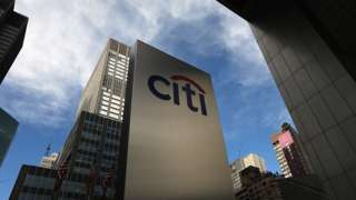 A 'Citi' sign is displayed near Citibank headquarters in Manhattan.