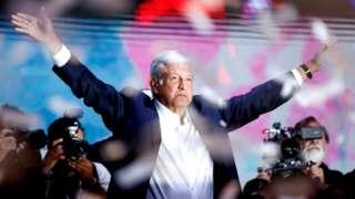 Andres Manuel Lopez Obrador in Mexico City 2 July