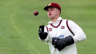 Northants' Harry Gouldstone impressed with both gloves and bat