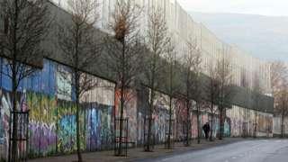 A peace wall in Belfast