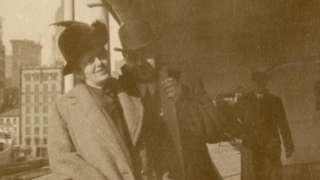 Oskar Holverson with his wife Mary