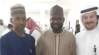 Ibrahim with authorities form Nigeria and Saudi
