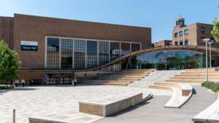 Exeter University, Exeter, Devon, England, UK The Great Hall building on Sreatham Campus.