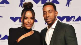 Ludacris and his wife Eudoxie Mbouguiengue