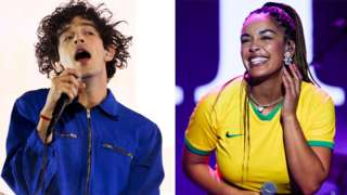 Matty Healy from The 1975 and Jorja Smith