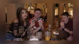 (left to right) Jessica Hayes, James Connelly, Michael (Mikey) Connelly. Taken during the holiday