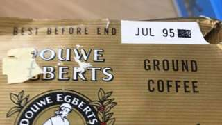 Out-of-date coffee given to food bank. Pic: Sue Durant