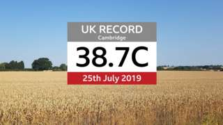 Highest temperature recorded in the UK