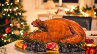 A Christmas turkey
