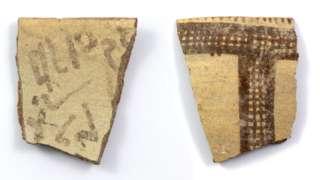 Черепки с надписями
