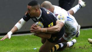 Marcus Watson scores Wasps' opening try
