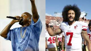 Kanye West and Colin Kaepernick