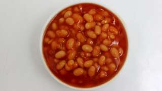 Baked beans from a tin