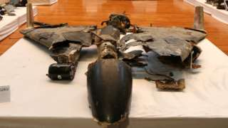 remains of missile Saudis say was used against oil infrastructure