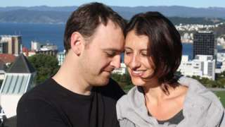 Matt Vickers with his late wife Lecretia Seales