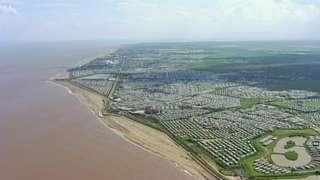 Caravans on Lincolnshire coast