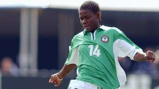 Nigeria's Ifeanyi Chiejine in action at the 2003 Women's World Cup