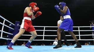 Women's boxing match