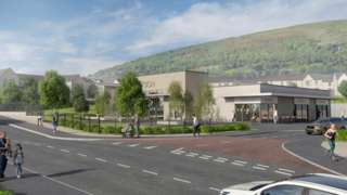 An artist's impression of what the site will look like