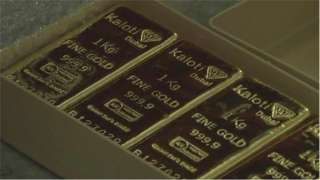 "Barras de oro inscritas con la palabra ""Kaloti"""