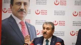 Büyük Birlik Partisi Genel Başkanı Mustafa Destici