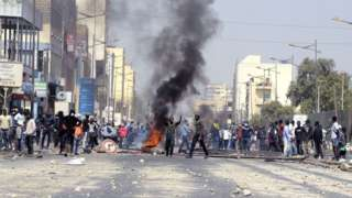 Protests in Dakar, Senegal