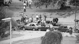 Scene of Hyde Park attack in 1982
