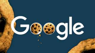 Google logo with chocolate cookies by the side