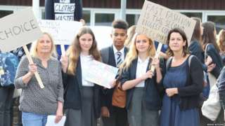 Protesting pupils