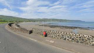 Google Maps image of the Bay Road in Carnlough, County Antrim