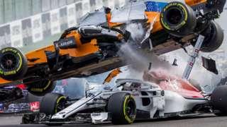 Belgium GP crash