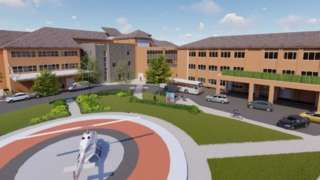 New acute assessment hub in Musgrove Park Hospital - artists impression