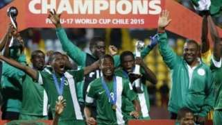 Nigeria celebrate winning the Under-17 World Cup