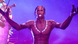 Travis Scott as seen inside Fortnite