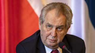 Czech President Milos Zeman