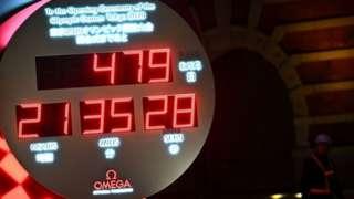 Часы, отсчитывающие дни до начала очередной Олимпиады