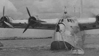 Flying boat at Poole Bay