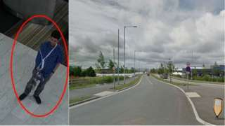 Karl Englemark and the road near where he was found