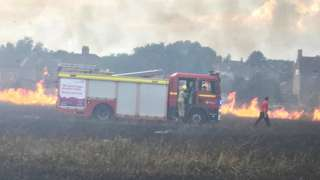 Fire at Southstoke Road near Combe Down in Bath
