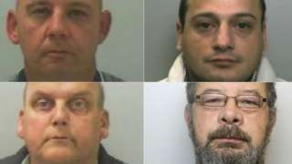 Clockwise from top left; Colin Ankers, Darren Smith, Philip Taylor, Paul Cavner